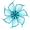 Flower made of water splash see my other works in portfolio Royalty Free Stock Photos