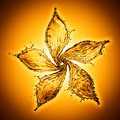 Flower made of water splash of yellow color