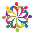 Flower man logo