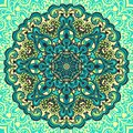 Flower mandala abstract element for design decorative vector illustration Royalty Free Stock Photos