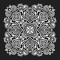 Flower Mandala. Abstract element for design Royalty Free Stock Photo