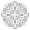 Flower mandala outline