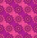 Flower Mandala symmetry seamless pattern purple pink colors