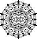 Flower Mandala. Vintage decorative elements. Oriental pattern, vector illustration