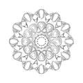 Flower mandala. Vintage decorative ornament.