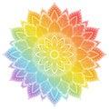 Flower Mandala. Vintage tattoo decorative elements. Oriental pattern, vector illustration.