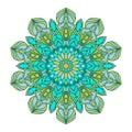 Flower Mandalas. Vintage decorative elements. Oriental pattern, vector illustration. Islam, Arabic, Indian turkish