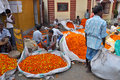 Flower Market in Kolkata Stock Photography