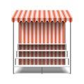 Flower market stall illustration on white Stock Images