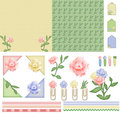 Flower mood scrapbook kit Royalty Free Stock Image
