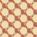 Flower net pattern on beige background this is file of eps format Stock Photos