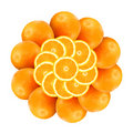 Flower from oranges 1 Stock Images