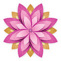 Flower origami recycled paper craft Royalty Free Stock Photo