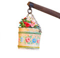 Flower pail hanging Royalty Free Stock Image