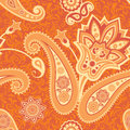 Flower and paisley seamless pattern ornamental background Stock Photography