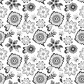 Flower pattern background vector illustration for beautiful design seamless endless monochrome spring texture for textile can be Royalty Free Stock Image