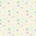 Flower pattern color seamless background eps vector create on spot easy to change Stock Photography
