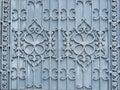 flower pattern design of alloy or metallic gate. Royalty Free Stock Photo