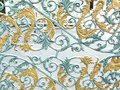 The flower pattern design of alloy or metallic gate Royalty Free Stock Photo