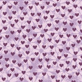 Flower pattern with hearts. Seamless vector background