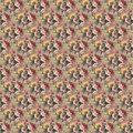 Flower pattern seamless vintage tropical Stock Photography