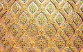 Flower pattern in traditional Thai style mosaic pa Royalty Free Stock Photo