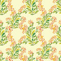 Flower pattern vector seamless background with flowers Stock Photography