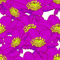 Flower pattern vector seamless background with flowers Royalty Free Stock Image
