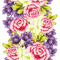 Flower pattern vector seamless background with flowers Stock Photos