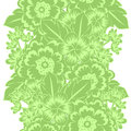 Flower pattern vector seamless background with flowers Stock Images
