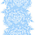 Flower pattern vector seamless background with flowers Stock Image