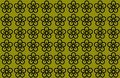 Flower Pattern with Yellow Background. Petals Design spread over clear background. Use Articles, Printing, Illustration,
