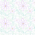Flower pencil outline pattern Stock Image
