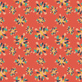 Flower petals Abstract seamless pattern on an orange background Royalty Free Stock Photo