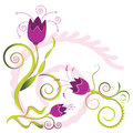 Flower with petals and blossoms illustration Stock Photos