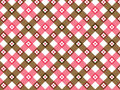 Flower pink and brown plaid Stock Photo