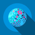 Flower planet icon, flat style Royalty Free Stock Photo