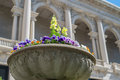Flower planter with building in the background Royalty Free Stock Photography