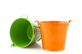 Flower pots on white background Stock Image