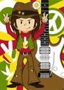 Flower Power Hippie Guitarist
