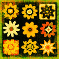 Flower Power Pop Art Grunge Stock Photo