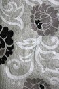 Flower print a sewn onto a piece of curtain cloth Royalty Free Stock Photography