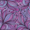 Flower purple corner seamless pattern