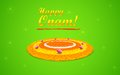 Flower rangoli for onam illustration of decoration Royalty Free Stock Photo