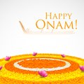 Flower rangoli for onam illustration of decoration Stock Images