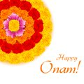 Flower rangoli for onam illustration of decoration Royalty Free Stock Images