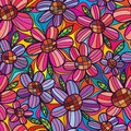 Flower rely flower seamless pattern Royalty Free Stock Photo