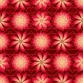 Flower rotate windmill red bright seamless pattern Royalty Free Stock Photo