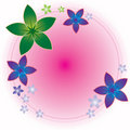 Flower Round Frame Royalty Free Stock Photography