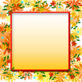 Flower scrapbook frame Stock Photo
